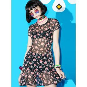Current Mood 'Flower Chiffon' dress